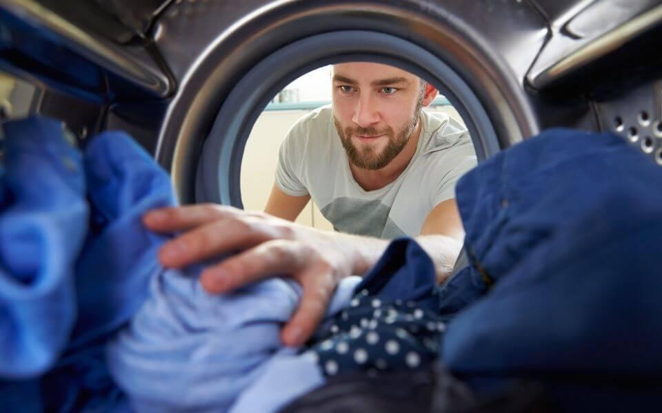 Stuva in i tvättmaskinen
